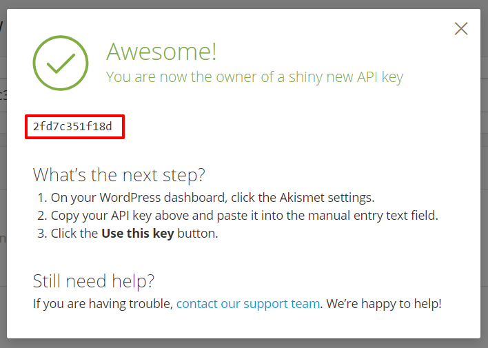 Akismet API key | HollyPryce.com