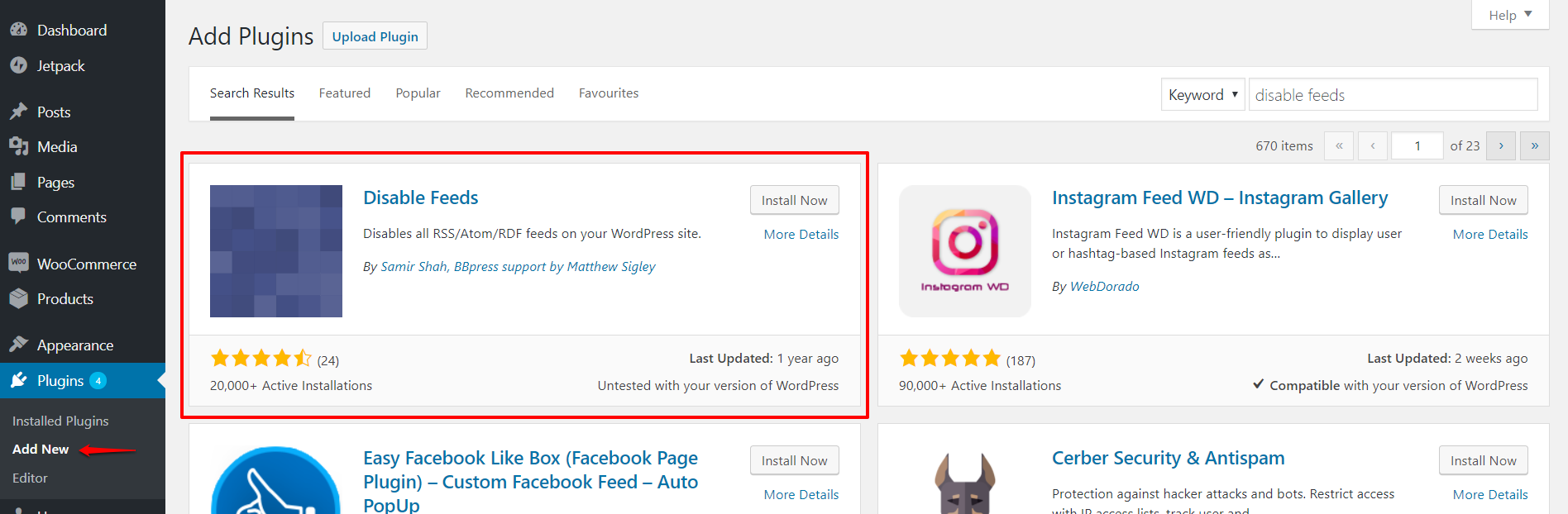 Disable Feeds plugin WordPress | HollyPryce.com