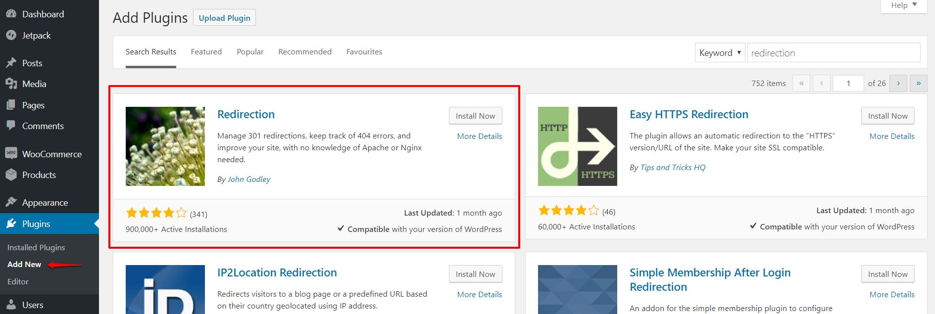 Redirection plugin for WordPress | HollyPryce.com