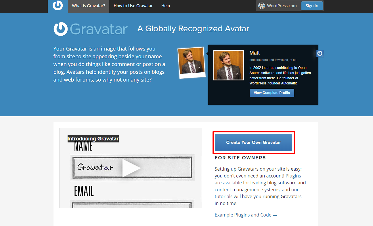 Gravatar homepage | HollyPryce.com
