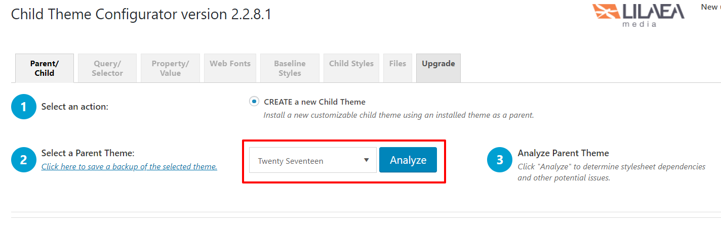 Child Theme Configurator settings | HollyPryce.com