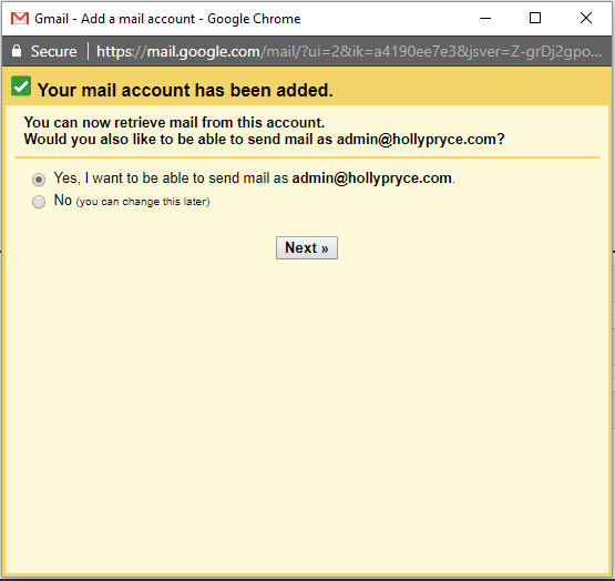 How to add a new email account to Gmail | HollyPryce.com