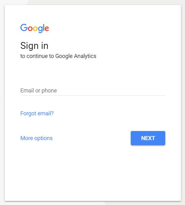 Google Analytics sign in | HollyPryce.com