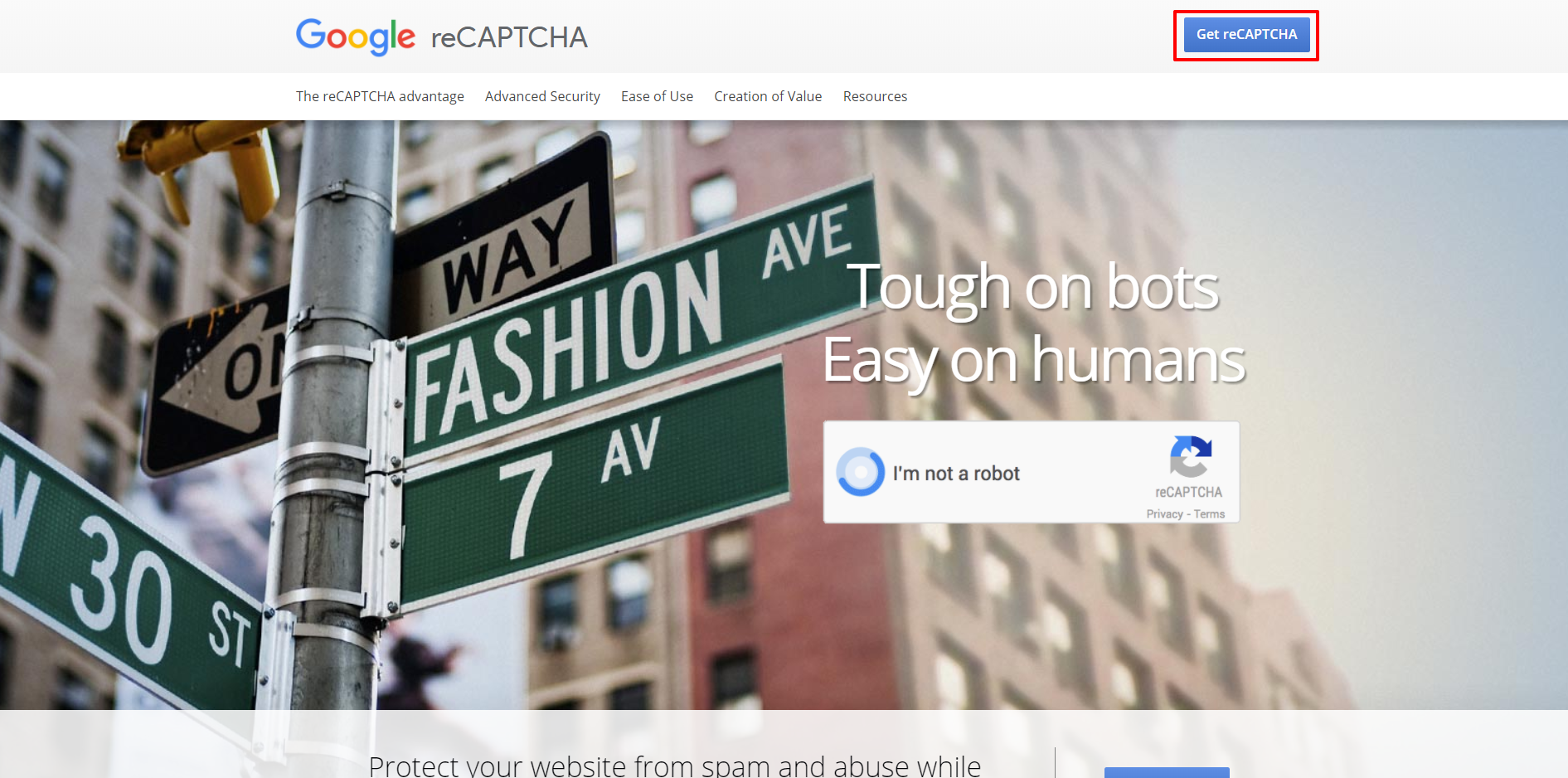 Google reCAPTCHA website | HollyPryce.com