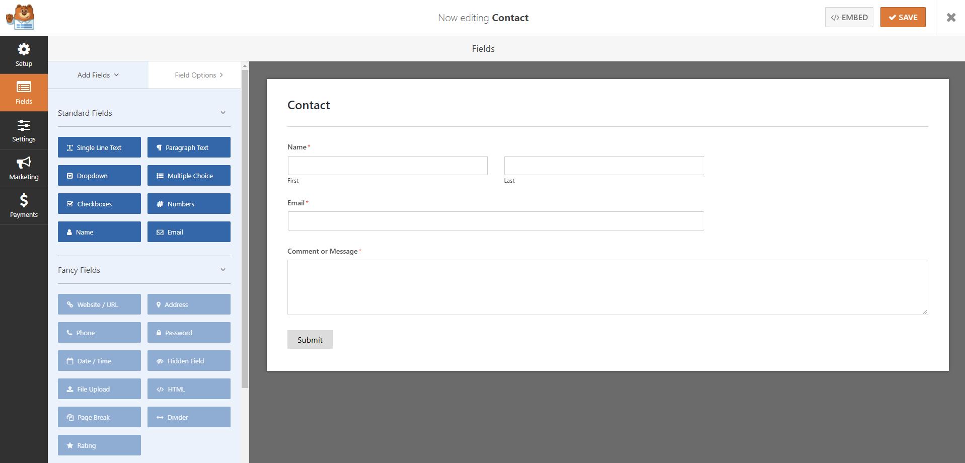 WPForms form builder | HollyPryce.com