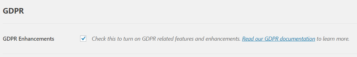 WPForms GDPR enhancements setting | HollyPryce.com