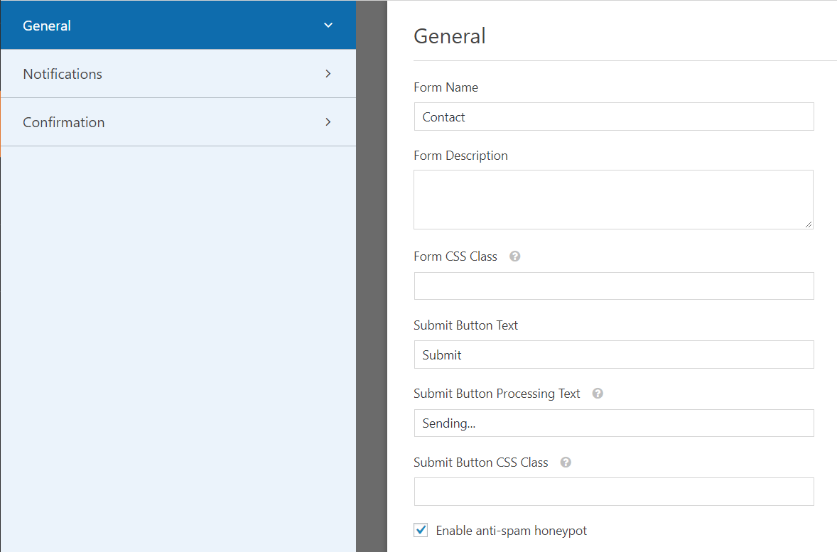 WPForms general settings | HollyPryce.com