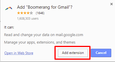 Boomerang for Gmail extension | HollyPryce.com