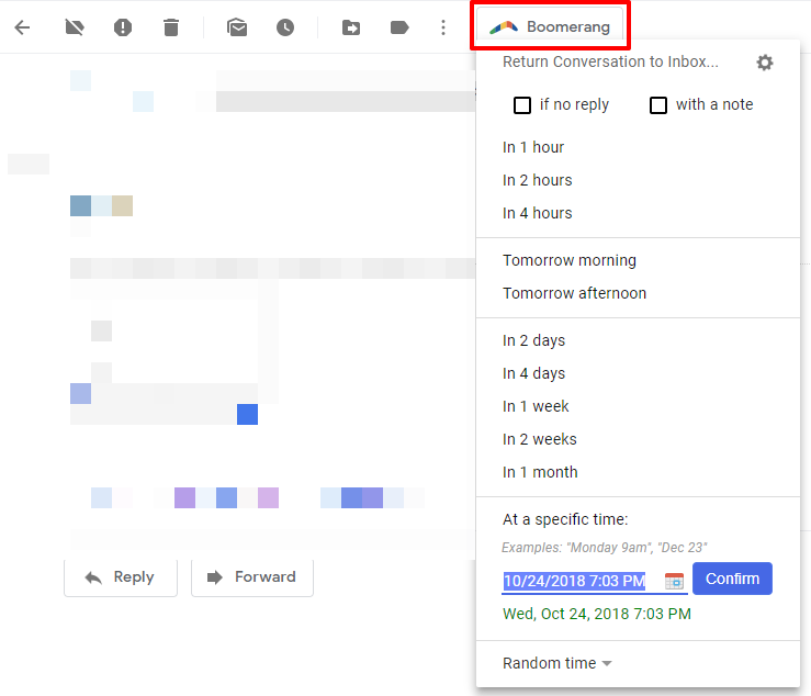 Return email to inbox with Boomerang for Gmail | HollyPryce.com