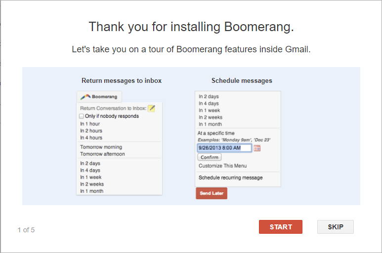 Boomerang for Gmail tour | HollyPryce.com