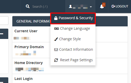 cPanel password and security | HollyPryce.com