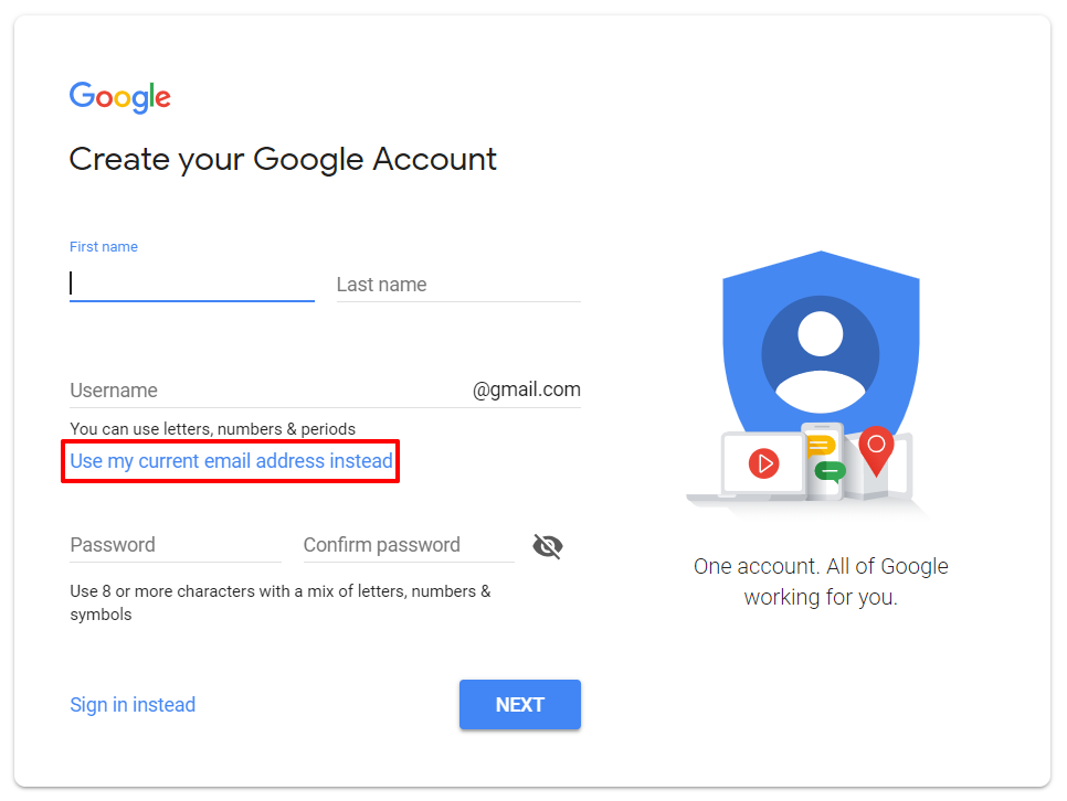Create a Google Account | HollyPryce.com
