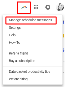 Manage scheduled messages in Boomerang for Gmail | HollyPryce.com
