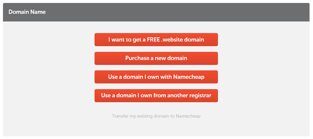 Namecheap choose domain | HollyPryce.com