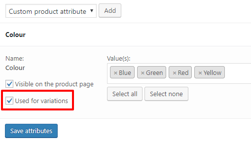 WooCommerce use attribute terms for variations | HollyPryce.com