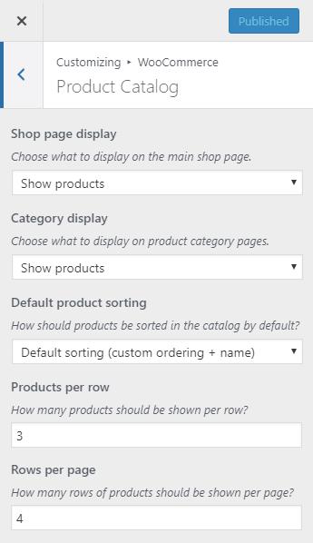 WooCommerce product catalog settings | HollyPryce.com