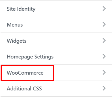 WooCommerce tab in WordPress Customise | HollyPryce.com