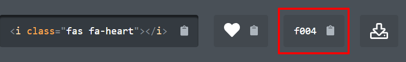 Unicode for Font Awesome heart icon | HollyPryce.com