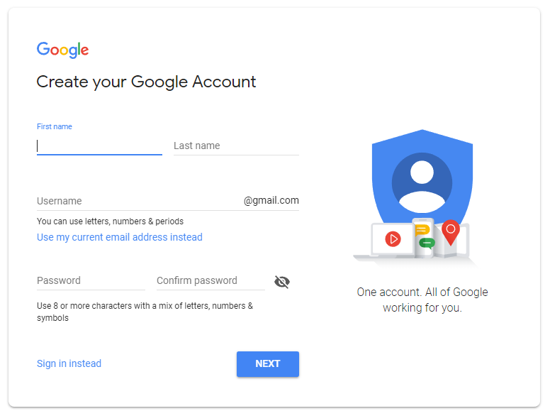 Google Account set up | HollyPryce.com