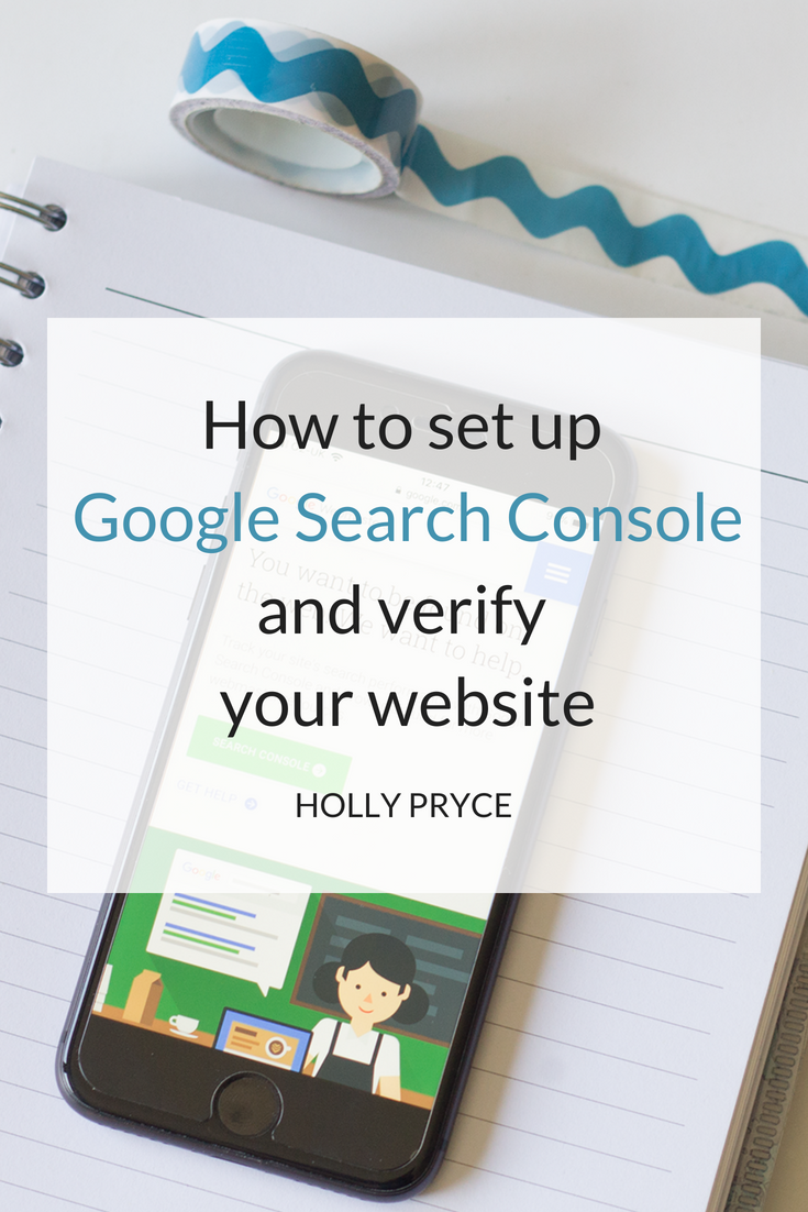 How to set up Google Search Console and verify your website | HollyPryce.com
