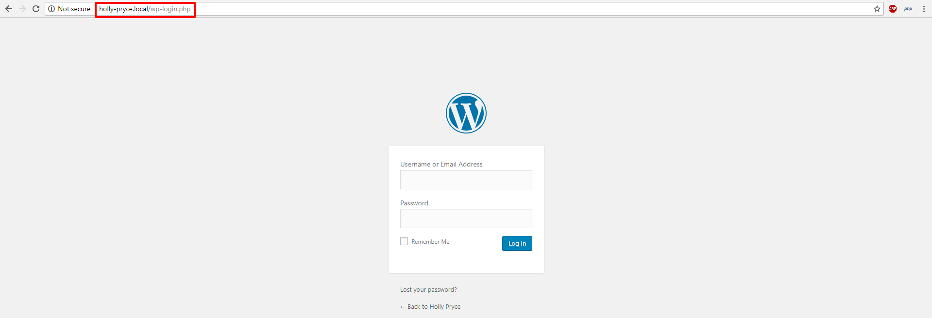 Local by Flywheel WordPress admin area | HollyPryce.com