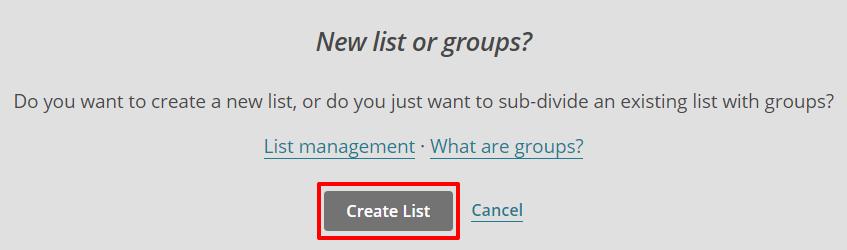 Mailchimp create list | HollyPryce.com