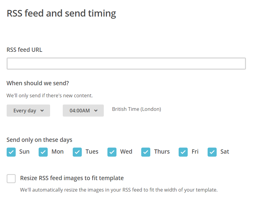 MailChimp create RSS feed campaign | HollyPryce.com
