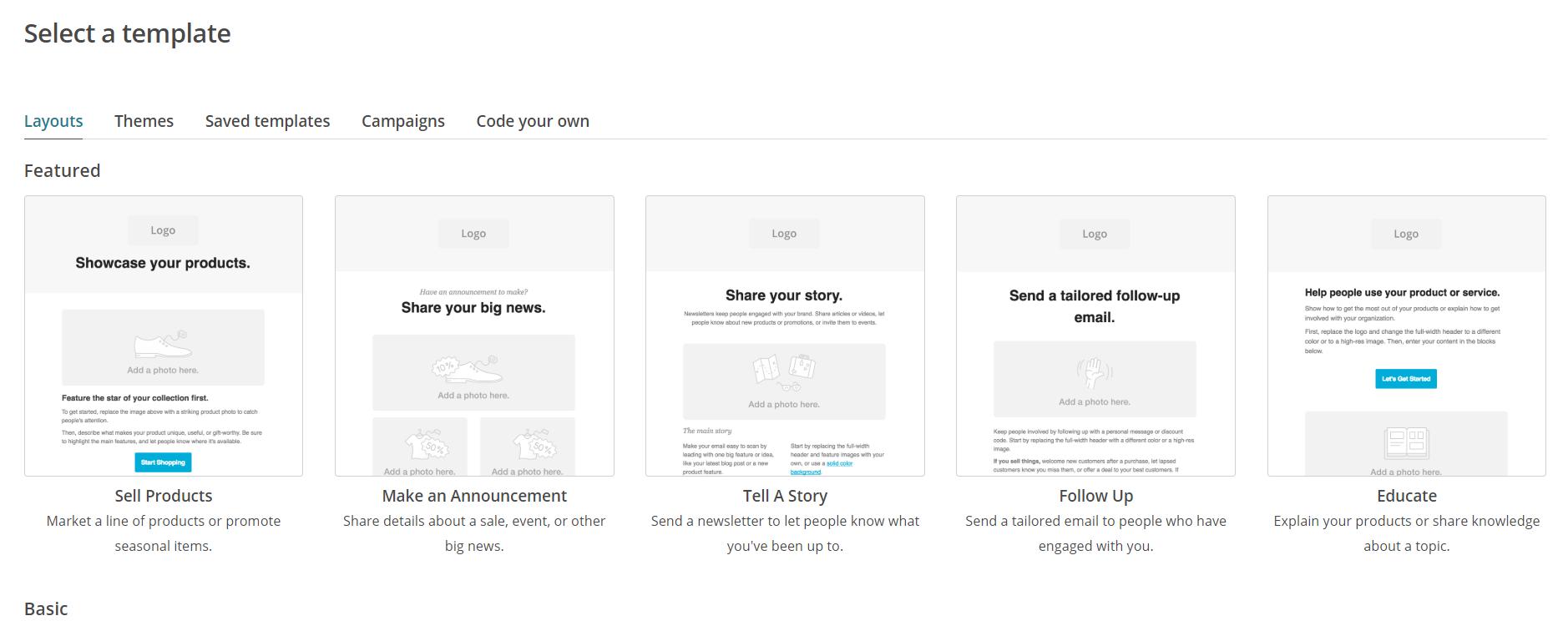 MailChimp templates | HollyPryce.com