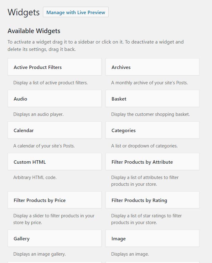 WooCommerce widgets | HollyPryce.com
