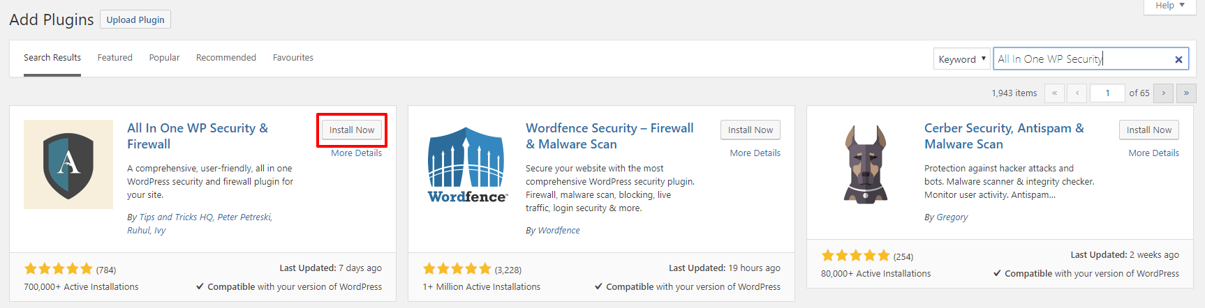 All In One WP Security & Firewall plugin | HollyPryce.com