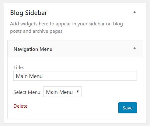 Navigation Menu widget in WordPress | HollyPryce.com