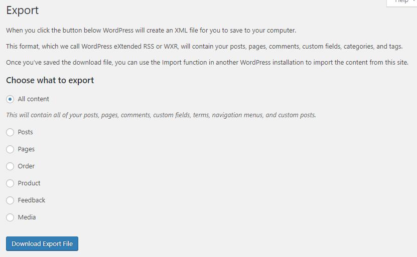 Export content from WordPress.com   HollyPryce.com