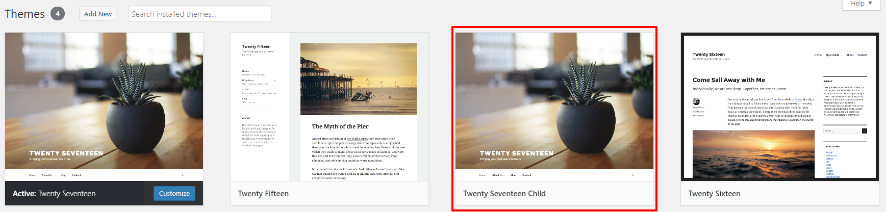 Twenty Seventeen child theme in WordPress | HollyPryce.com