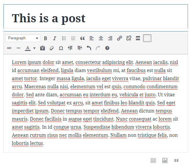 Classic block in Gutenberg | HollyPryce.com