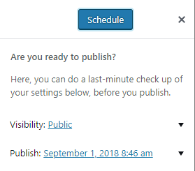 How to schedule a post in Gutenberg | HollyPryce.com