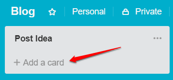 How to add a new card in Trello | HollyPryce.com