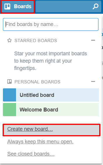 Create new board in Trello | HollyPryce.com
