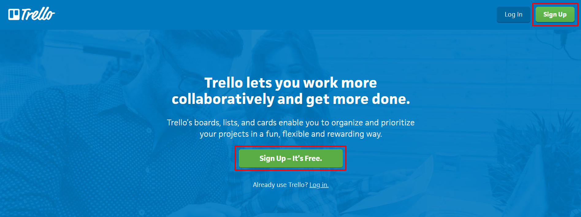 Trello homepage | HollyPryce.com