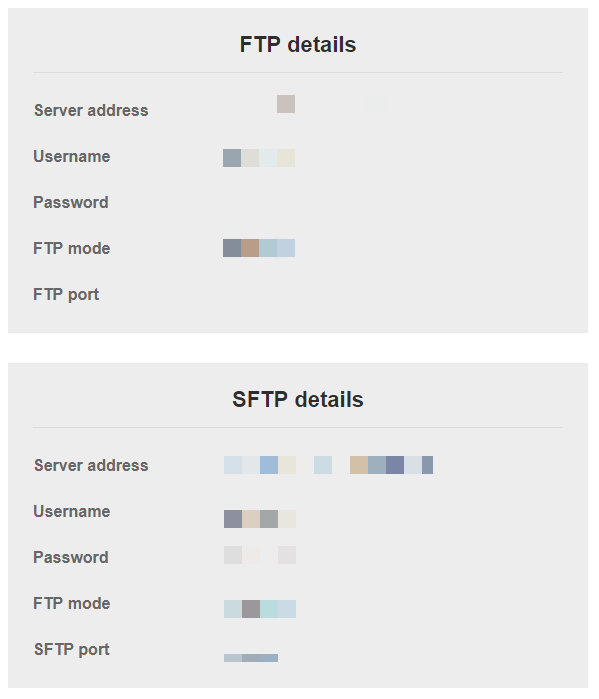 FTP and SFTP credentials in an email from Namecheap | HollyPryce.com