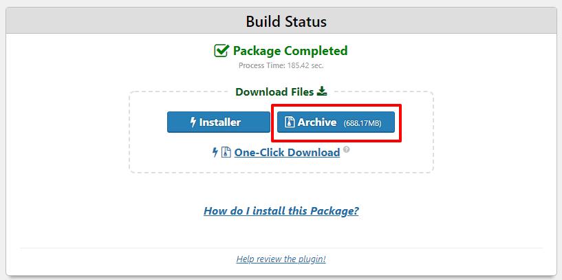 Duplicator package builder | HollyPryce.com