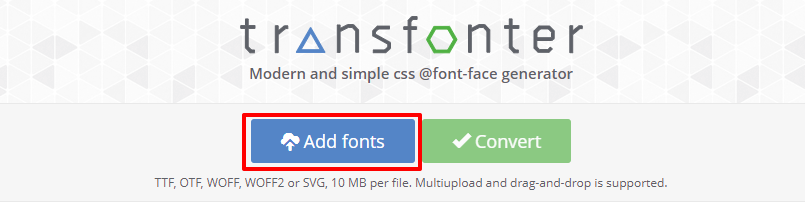 Upload fonts to Transfonter | HollyPryce.com
