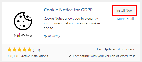 Cookie Notice for GDPR plugin for WordPress