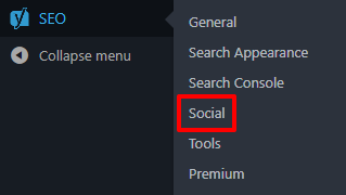 Yoast SEO Social settings page in WordPress