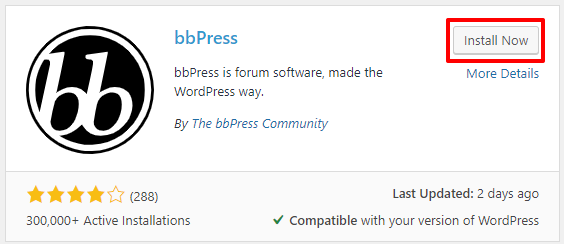 How to install the bbPress plugin in WordPress