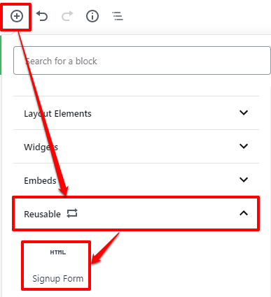 How to create a reusable block in the WordPress editor