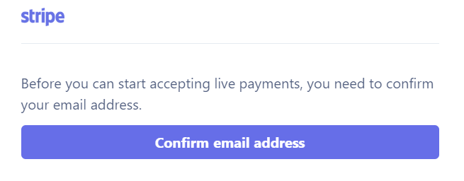Stripe confirmation email