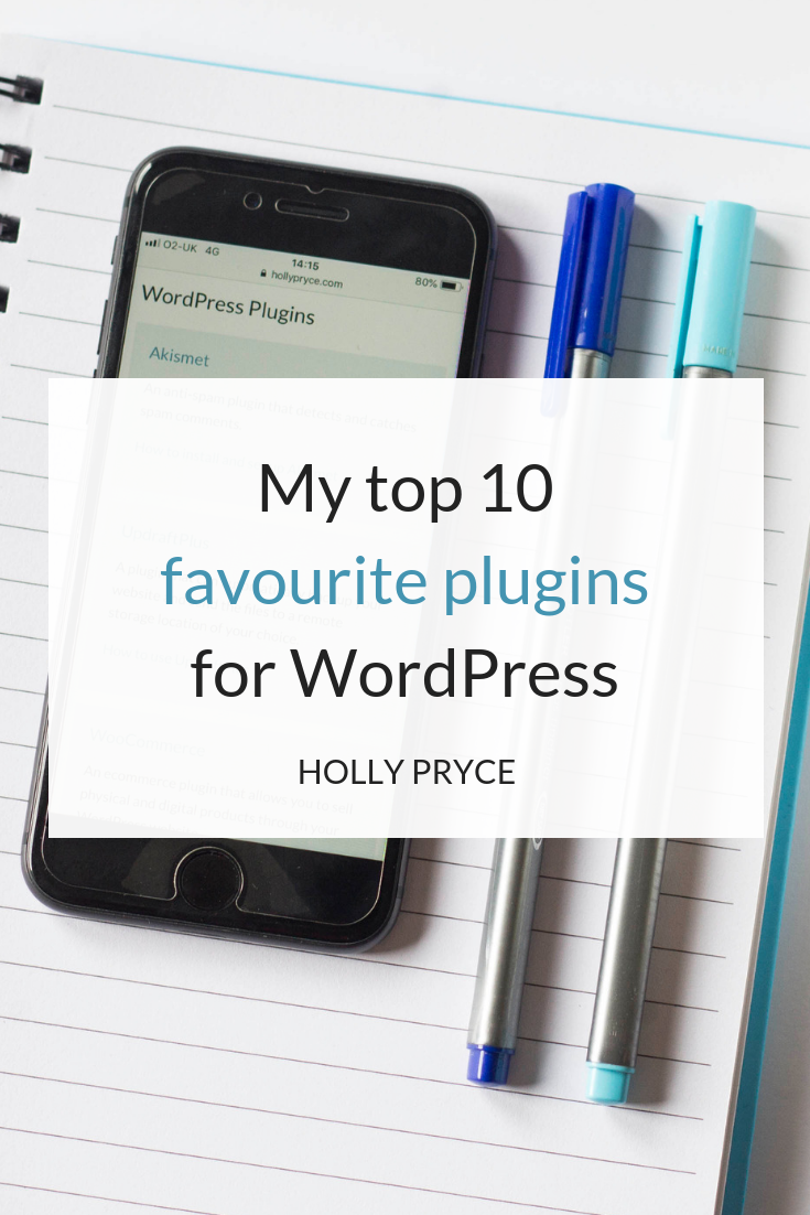 My top 10 favourite plugins for WordPress | HollyPryce.com
