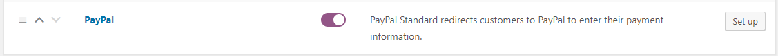 Enable PayPal Standard in WooCommerce